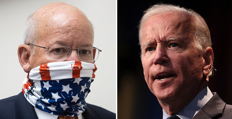 House Transportation and Infrastructure Chairman Peter DeFazio (D-Ore.) (left) says Democratic presidential nominee Joe Biden is keen on infrastructure legislation if he wins the White House.