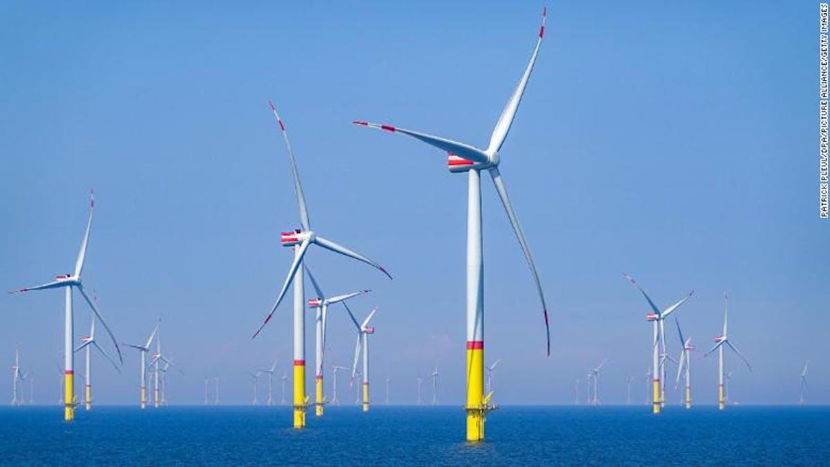 Wind turbines in Baltic Sea
