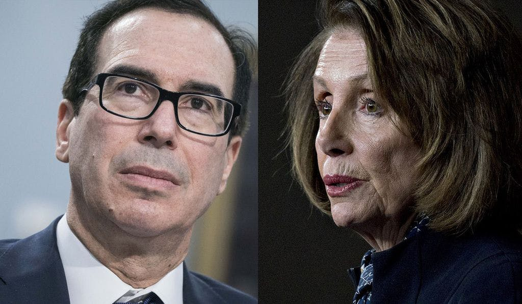 Steven Mnuchin and Nancy Pelosi