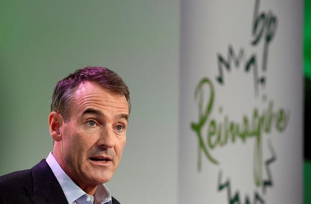 BP's new Chief Executive Bernard Looney gives a speech in central London, Britain February 12, 2020.
