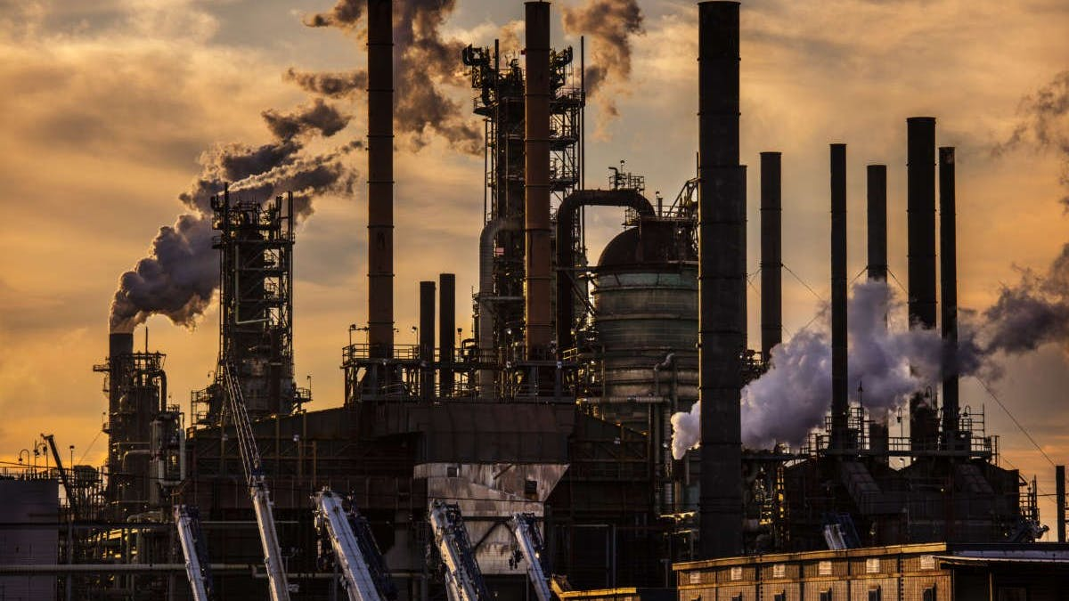 An oil refinery owned by Exxon Mobil is pictured on February 28, 2020, in Baton Rouge, Louisiana.