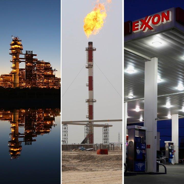 exxon mobil gas flaring oil