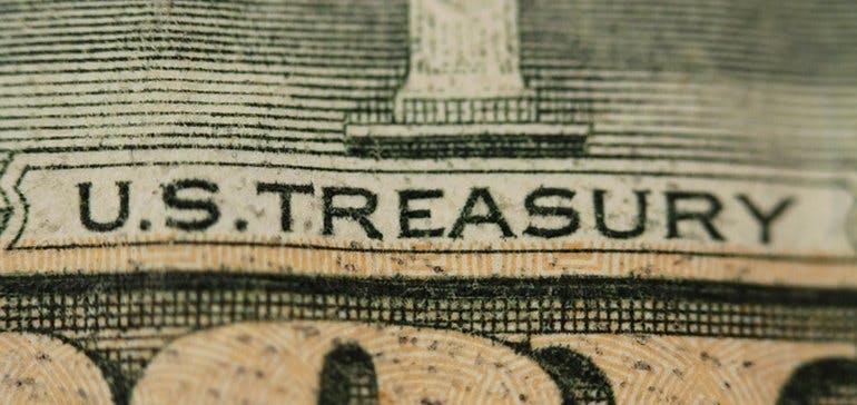 Closeup of a U.S. bill