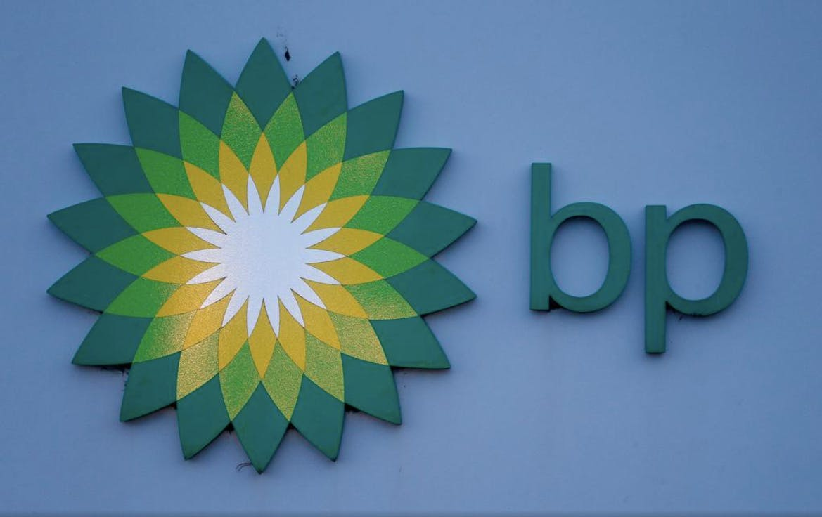 File photograph shows a sign is outside BP's North Sea Headquarters in Aberdeen, Scotland January 15, 2015.