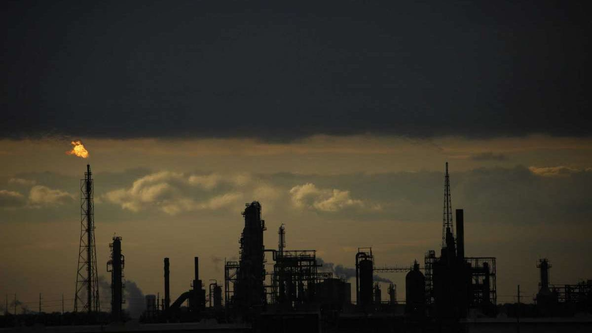 The Port Arthur Refinery operated by Valero Energy Corp. Valero's credit outlook was downgraded Tuesday.