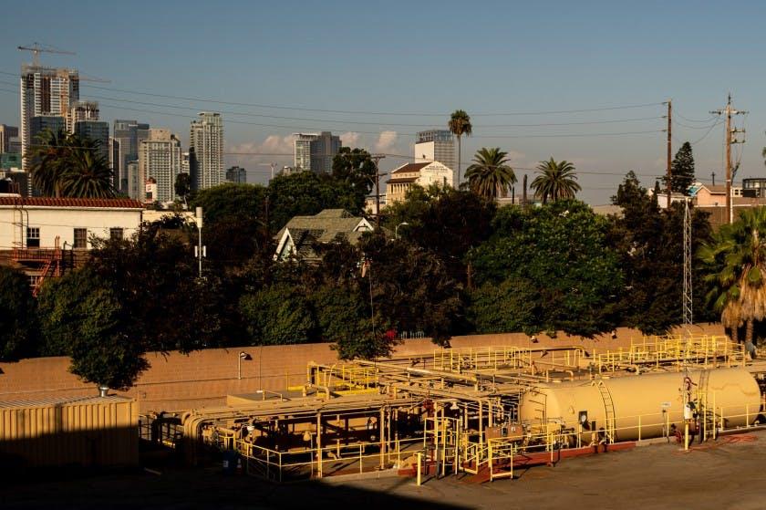 The Allenco Energy drill site near USC in 2019.