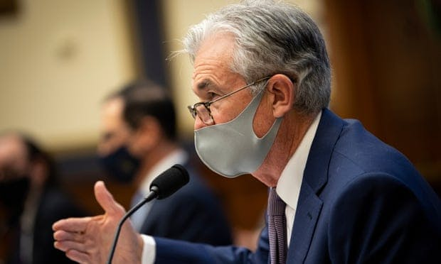 Jerome Powell testifies before the House financial services committee during a hearing in Washington DC on 22 September.