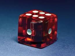 A die throwing dice