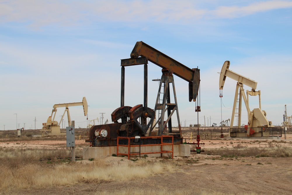 Abandoned oil well in New Mexico