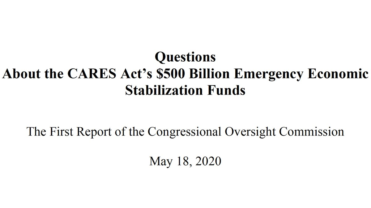 Congressional Oversight Commission first report