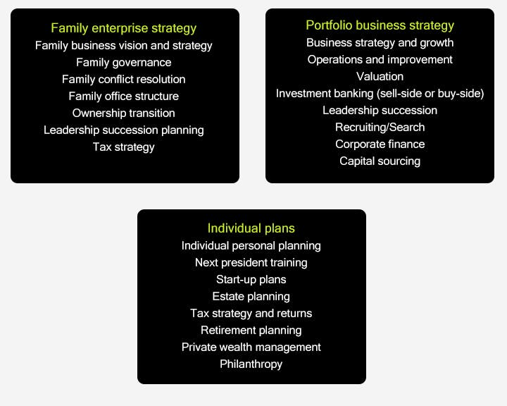 Strategic roadmap focus areas