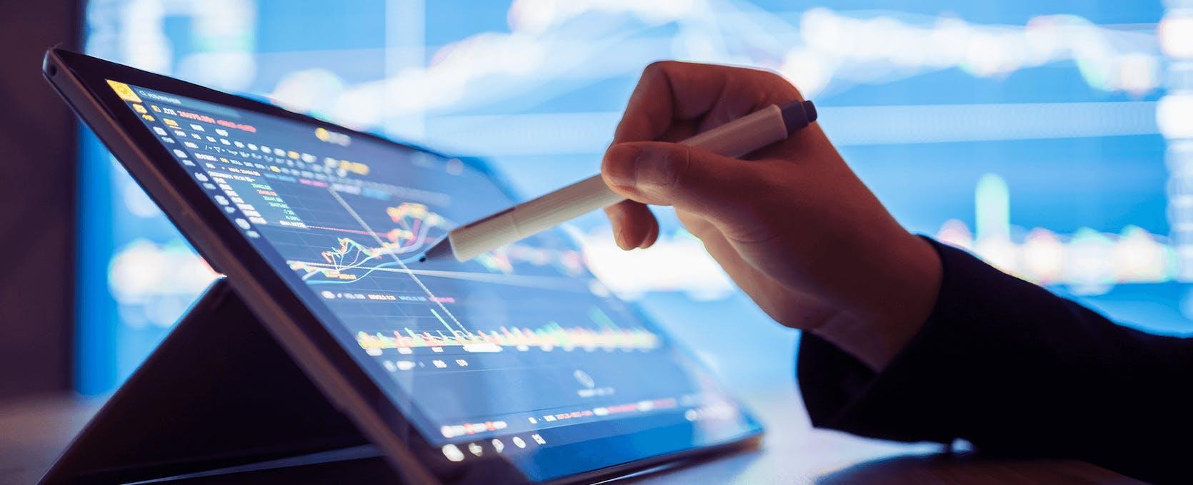 Analyzing program data on tablet