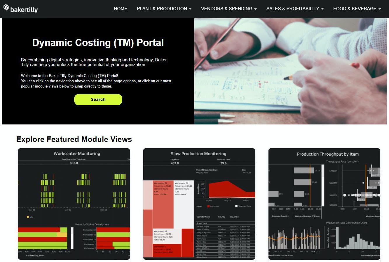dynamic costing portal