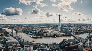 View of greater London skyline