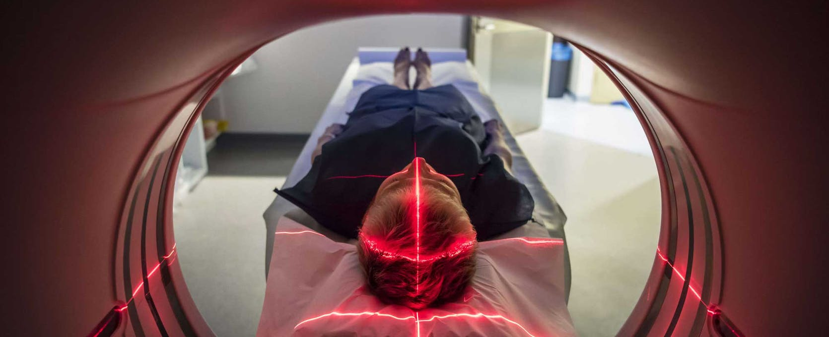 Patient entering a medical device scanner