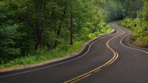 Winding road leads to to the future