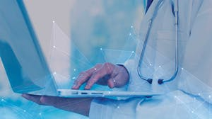 Medical professional accesses precision analytics for healthcare providers