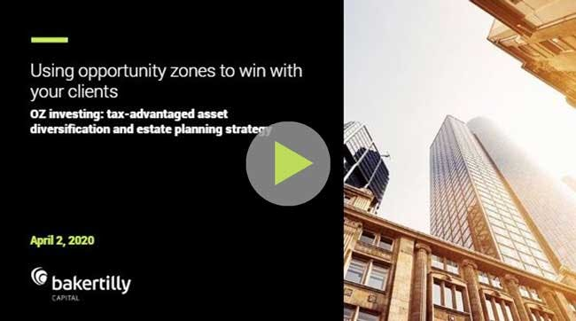 Using opportunity zones to win with your clients