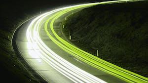 Fast-moving green light