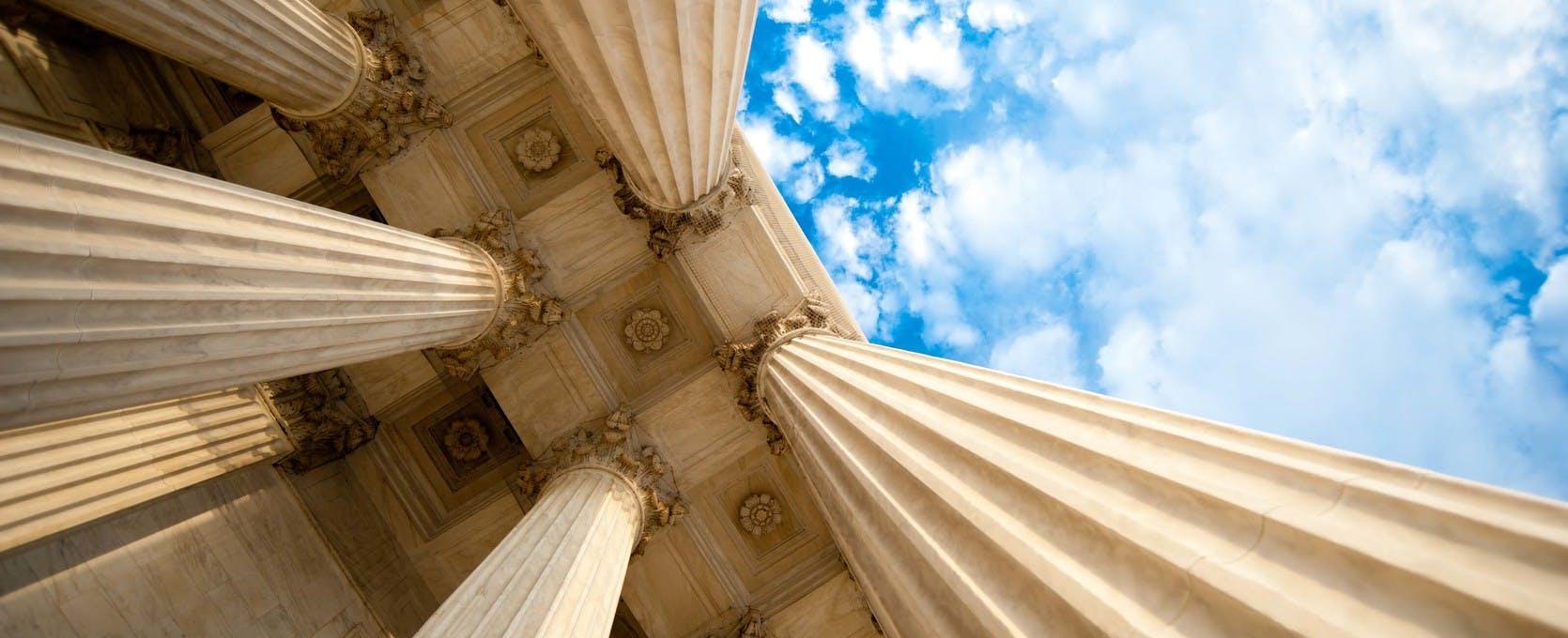 Government building columns, architecture