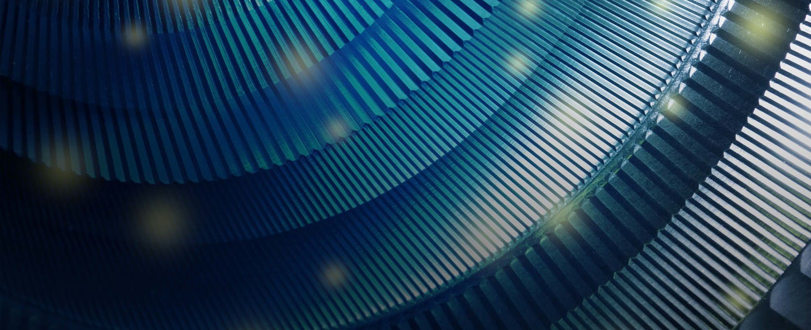 Circular metal pattern closeup