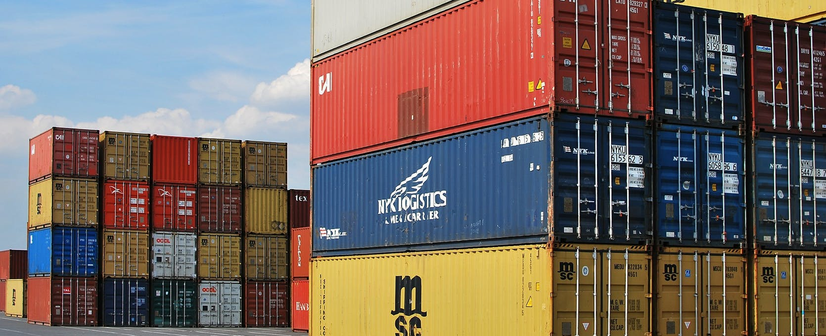 Shipping containers at the dock are a key part of the supply chain