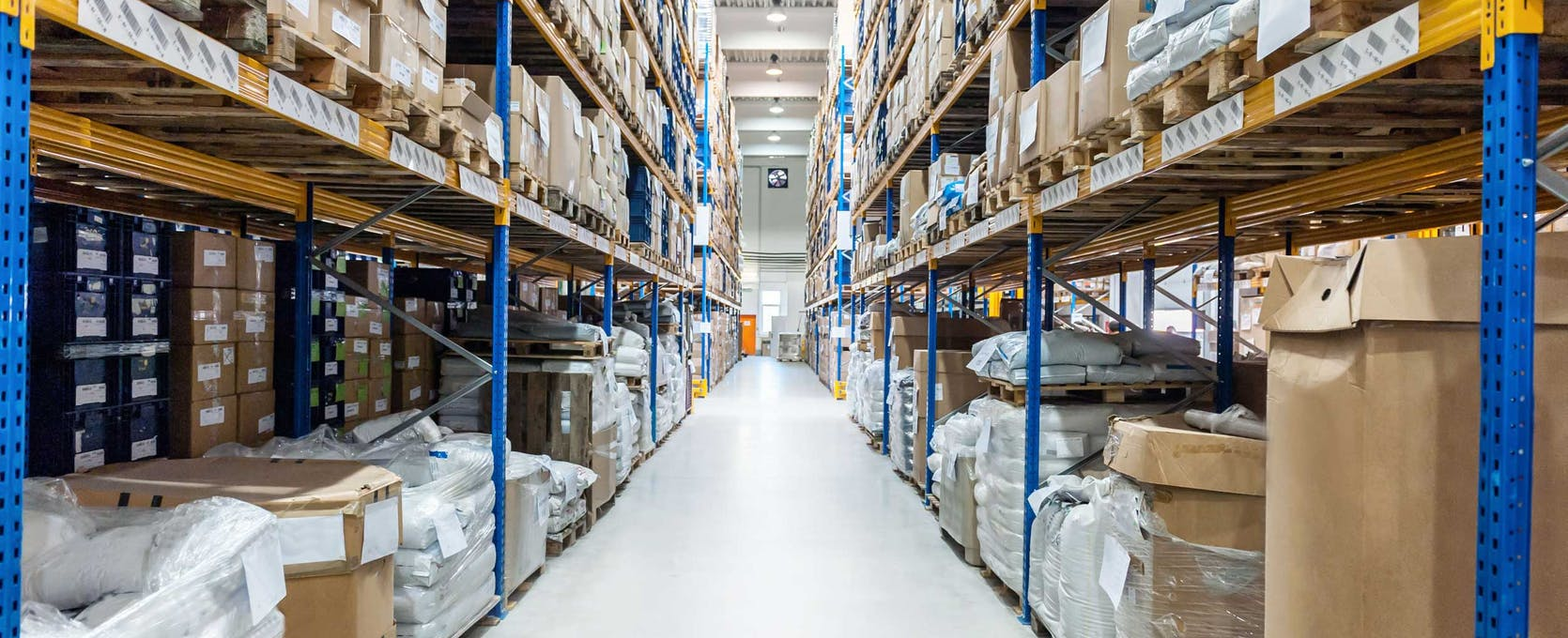 Warehouse distribution center, one component of the a supply chain