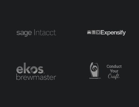 Sage Intacct, Expensify, Ekos Brewmaster, Orchestrated Beer