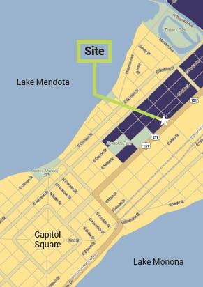 Project location at 1050 E. Washington Avenue