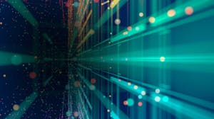 Data transfers from one point to another providing analytics for decision makers