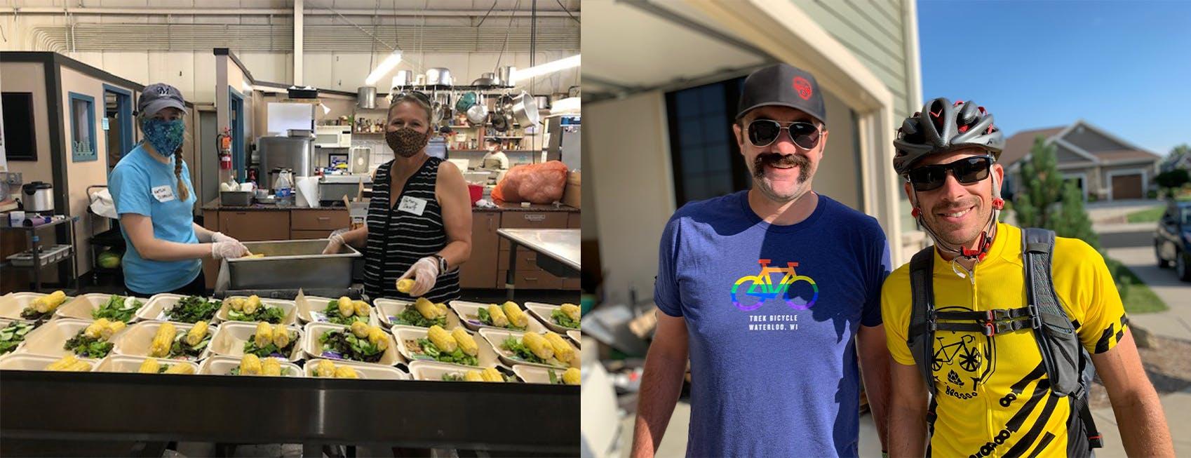 Employees volunteering during Wisconsin's Stewardship Day