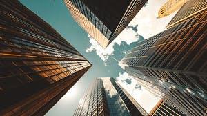 buildings from down below