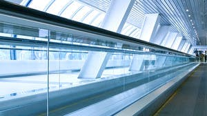 Airport conveyor belt