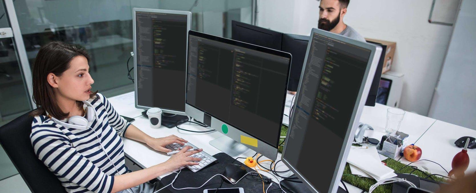 Programmers work on software development