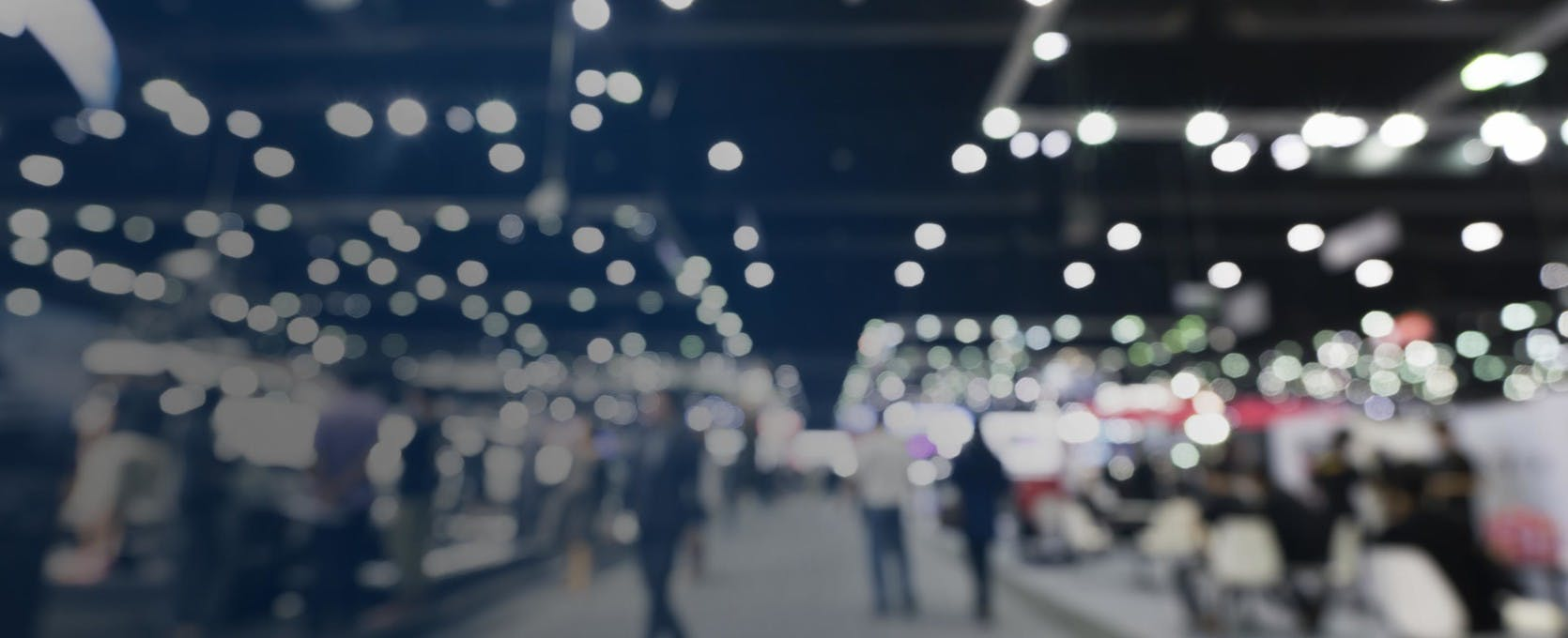 Sales expo floor and abstract lights