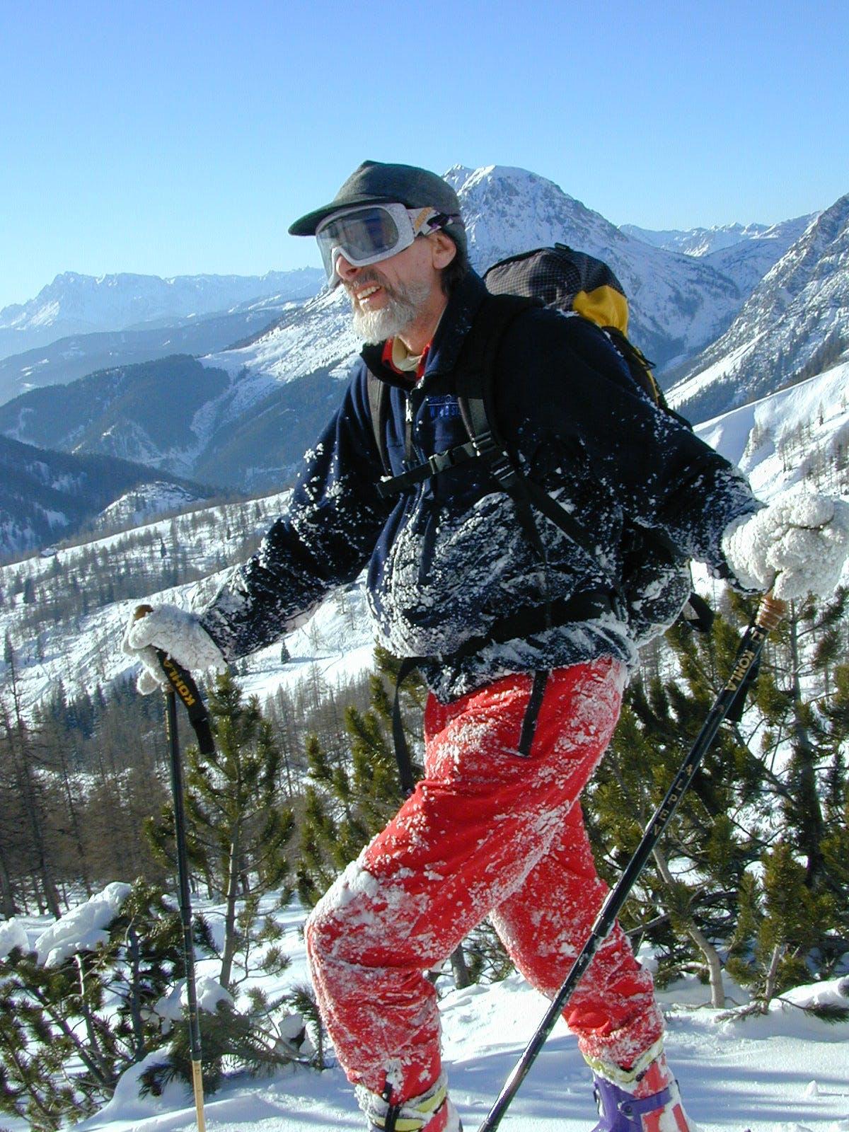 Erhard als Skifahrer am 15. Januar 2001