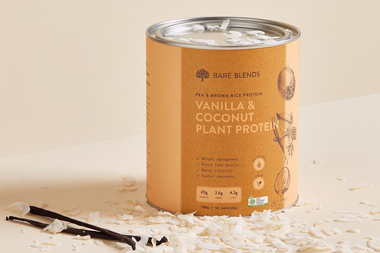 Vegan Vanilla Coconut Plant Protein