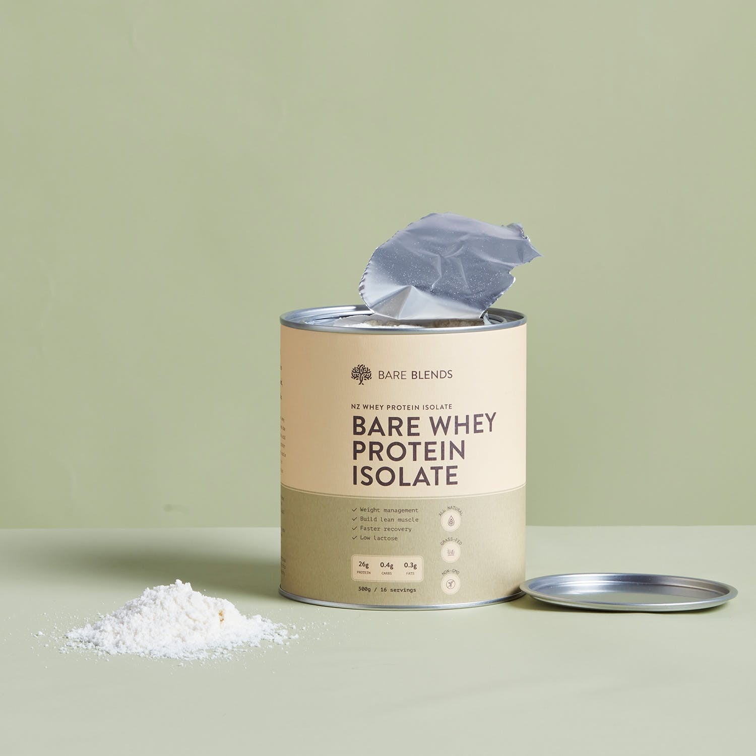 bare whey protein isolate can