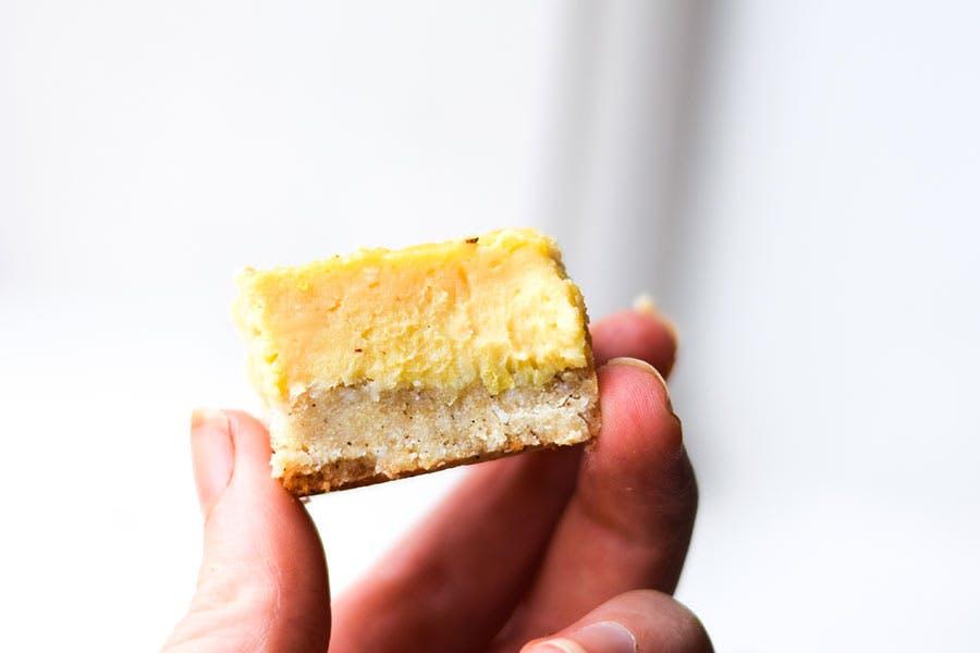 Coconut Protein Lemon Slice