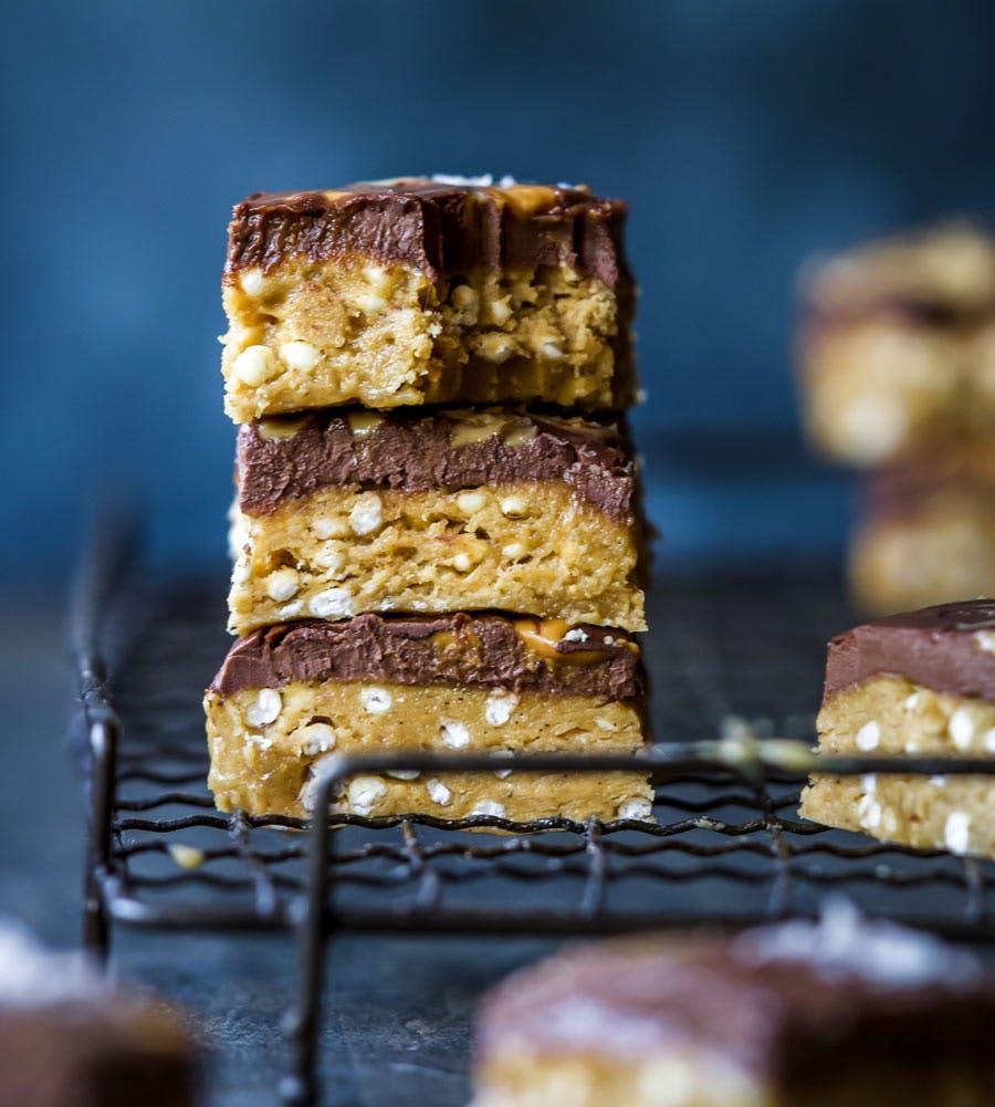 Peanut Butter And Chocolate Ganache Protein Bites
