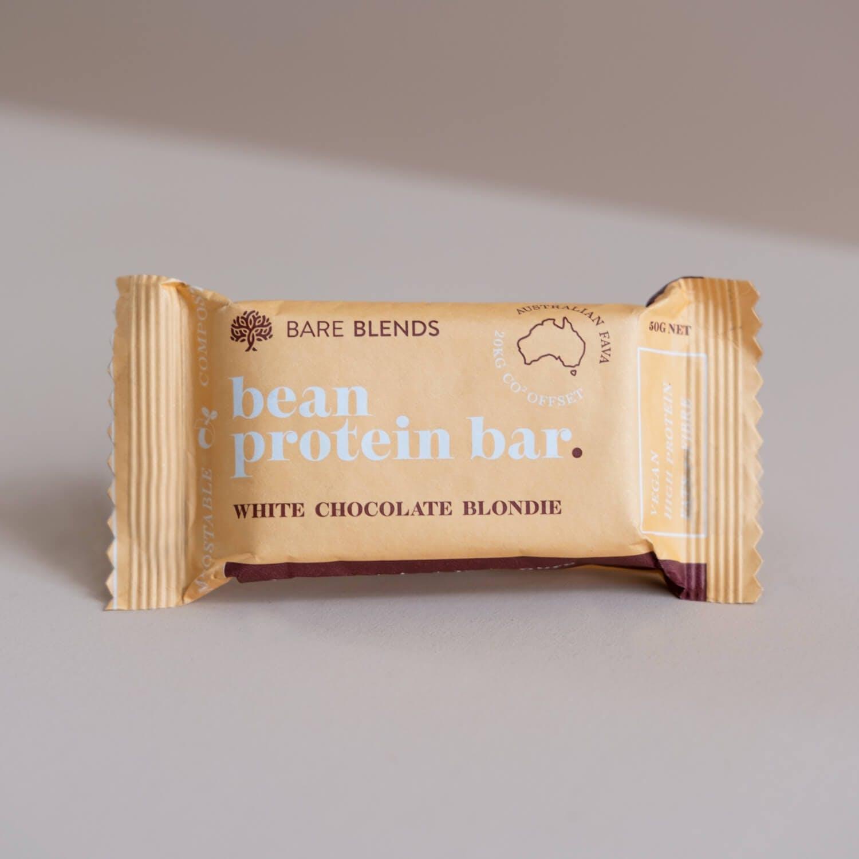 Fava Bean Protein Bar White Chocolate Blondie