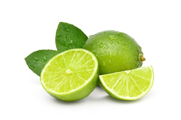 fresh limes cut