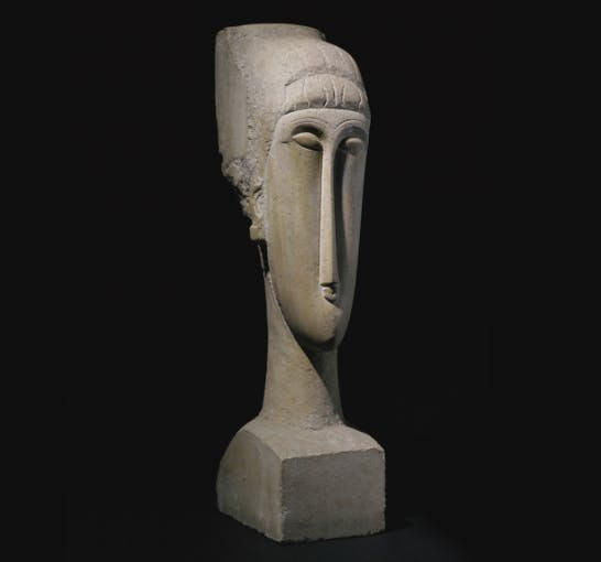 Tête, Amadeo Modigliani. Image: Barnebys.fr