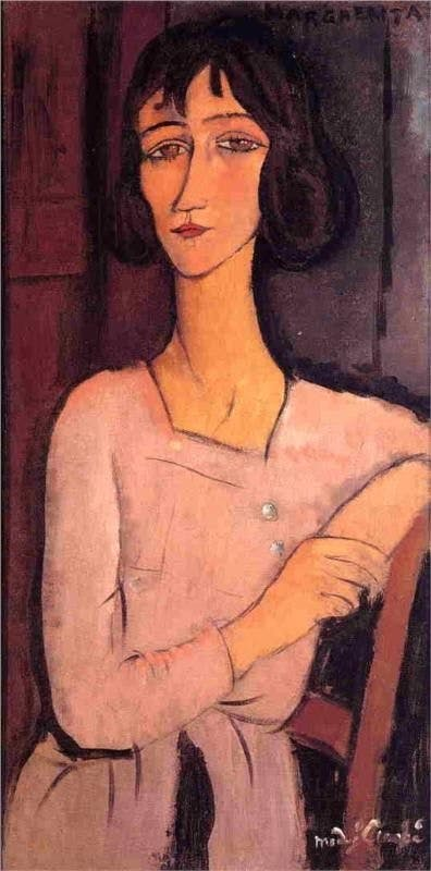 Amedeo Modigliani (1884-1920), Portrait of Beatrice Hastings, c. 1916 | Photo via Wikimedia Commons