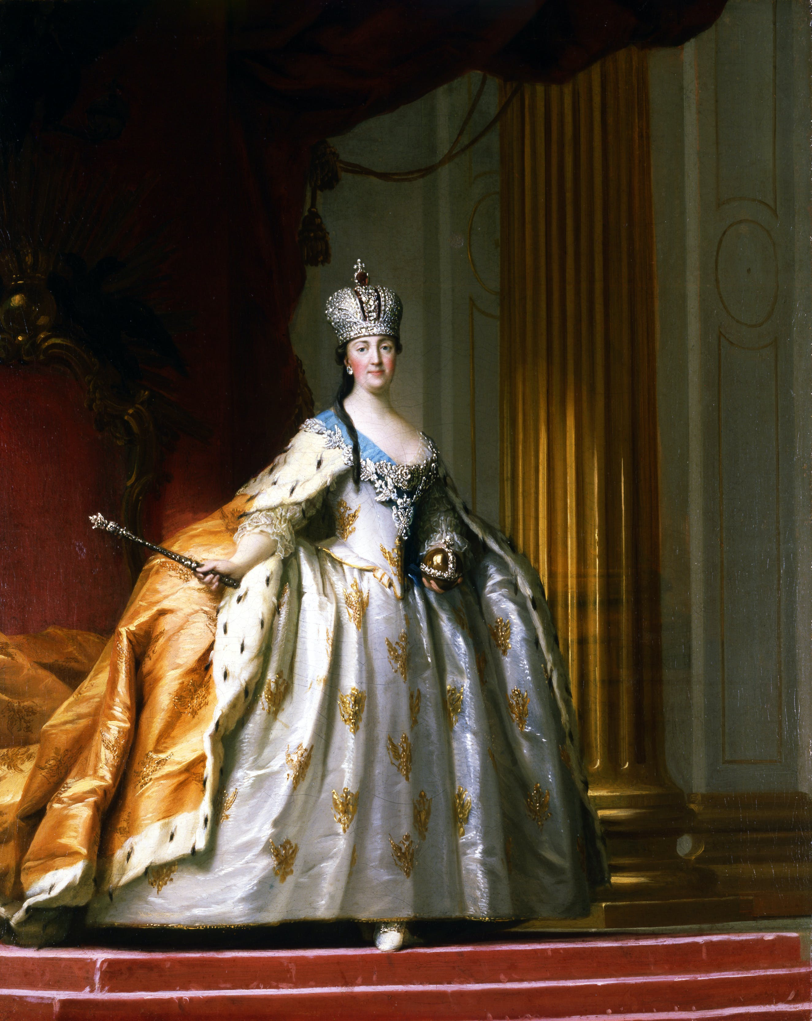 Catherine the Great in her Coronation Robe, Vigilius Eriksen. 1778-9, oil on canvas. Image: David Collection, Denmark