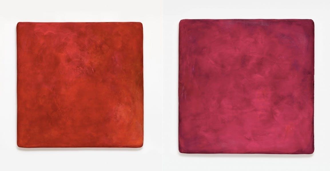 GOTTHARD GRAUBNER (Erlbach/Vogtland 1930 - 2013 Neuss) Gauche: Farbraumkörper II Droite: Farbraumkörper I Les deux: Huile et acrylique, environ 204 x 204 x 20 cm, signé et daté 1997 Estimation: 250,000-350,000 EUR