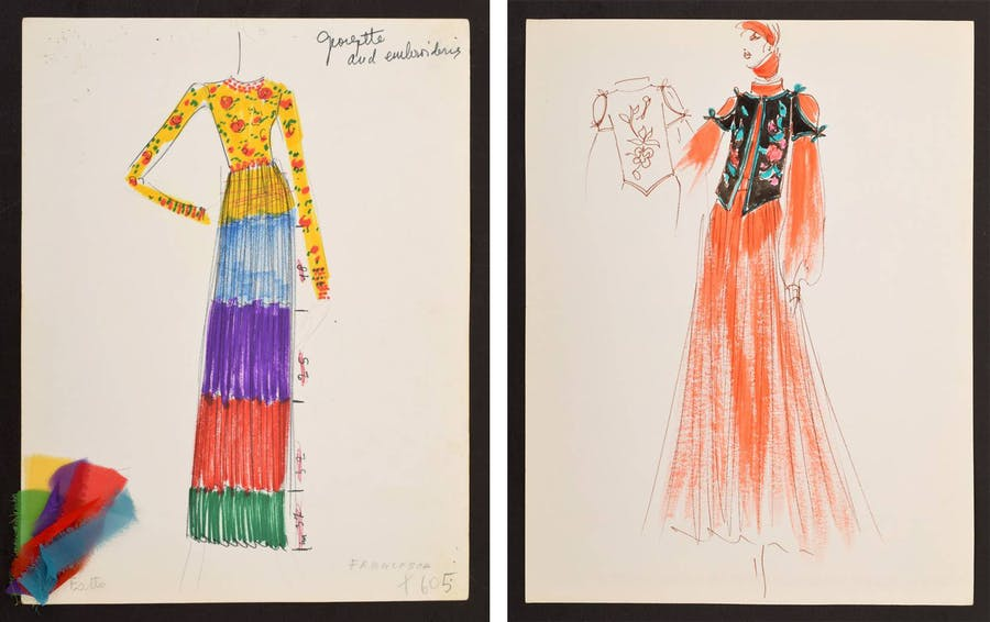 Rare Karl Lagerfeld Sketches For Sale Barnebys Magazine