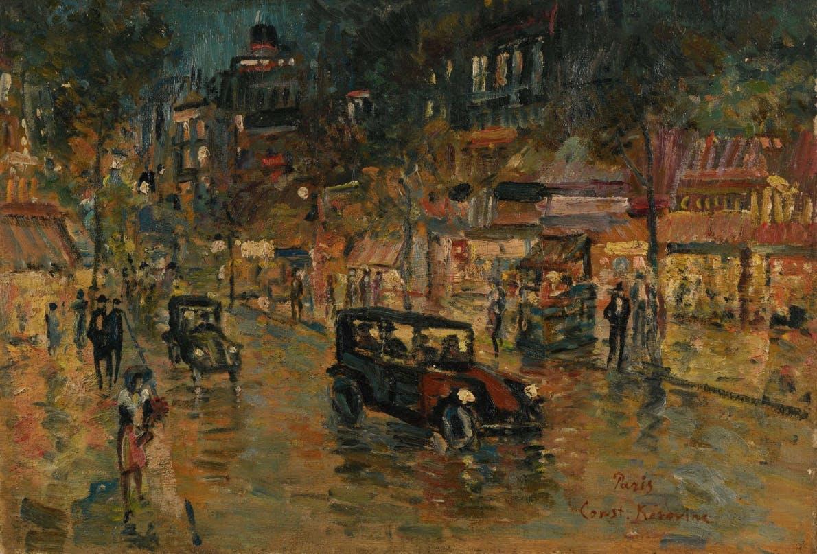 Constantin Alexeevich Korovine, 'Parisian Boulevard at night'. Foto:  © Aguttes