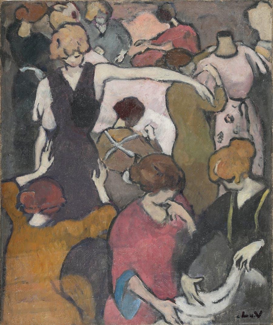 Louis Valtat, Les couturières, circa 1918, huile sur toile, image © Rossini