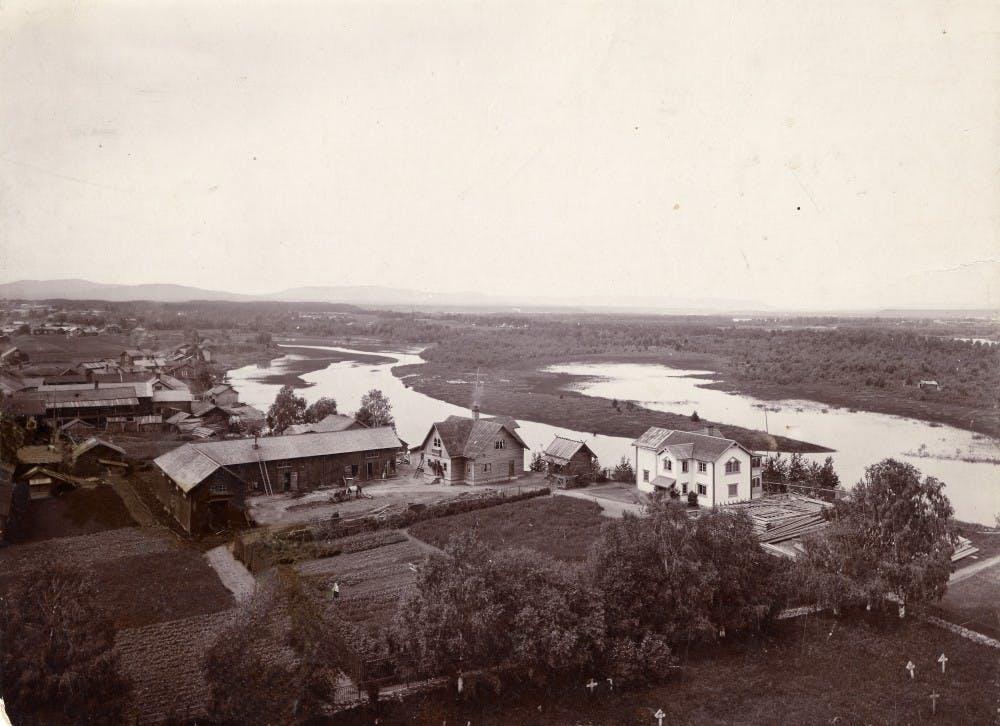 Zorngården 1895. Foto Zornsamlingarna